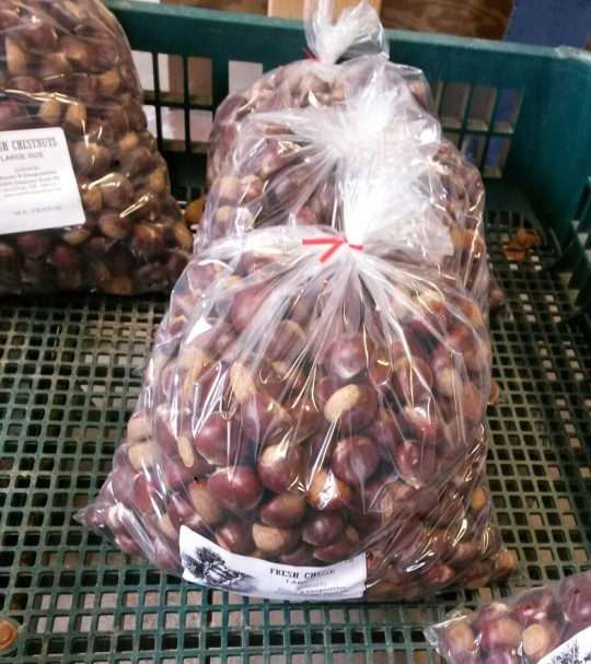 Finally, the chestnuts are bagged for shipping all over the United States.