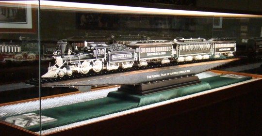 Warther carved this ivory replica train at the age of 80.