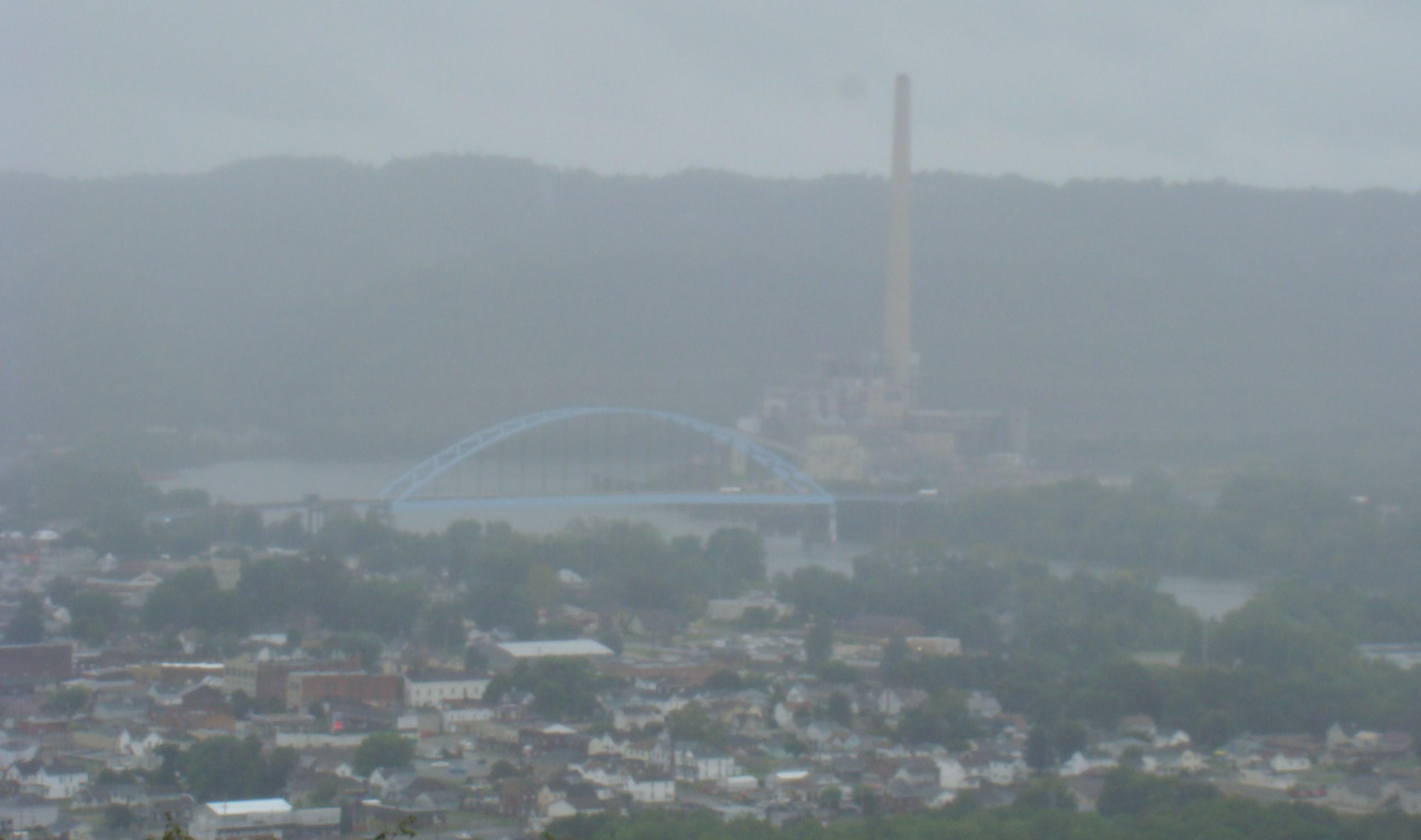 Fog over Ohio River
