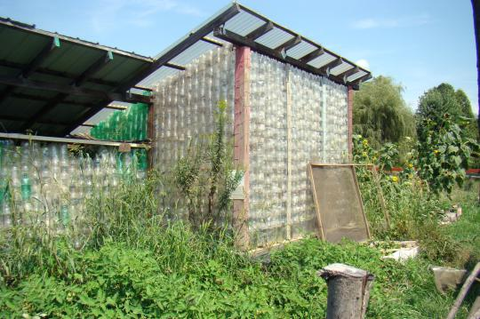 Greenhouse of bottles