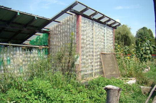 Greenhouse of bottles