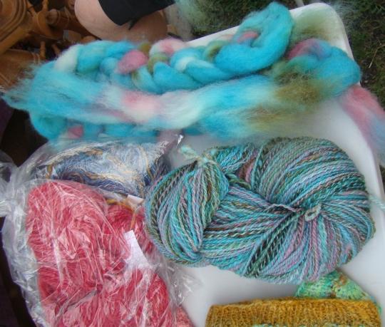 Spinners yarn samples