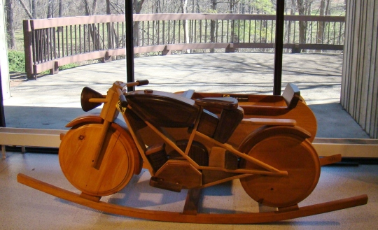 AMA Wooden toy bike