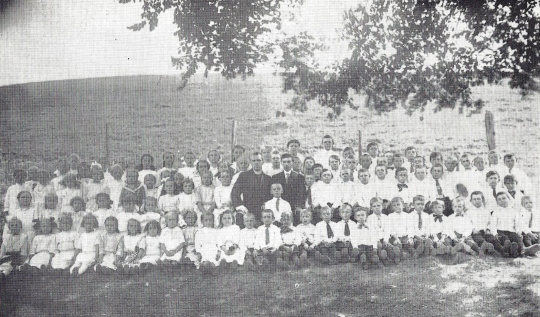 1914 First Children's Class at St Michaels