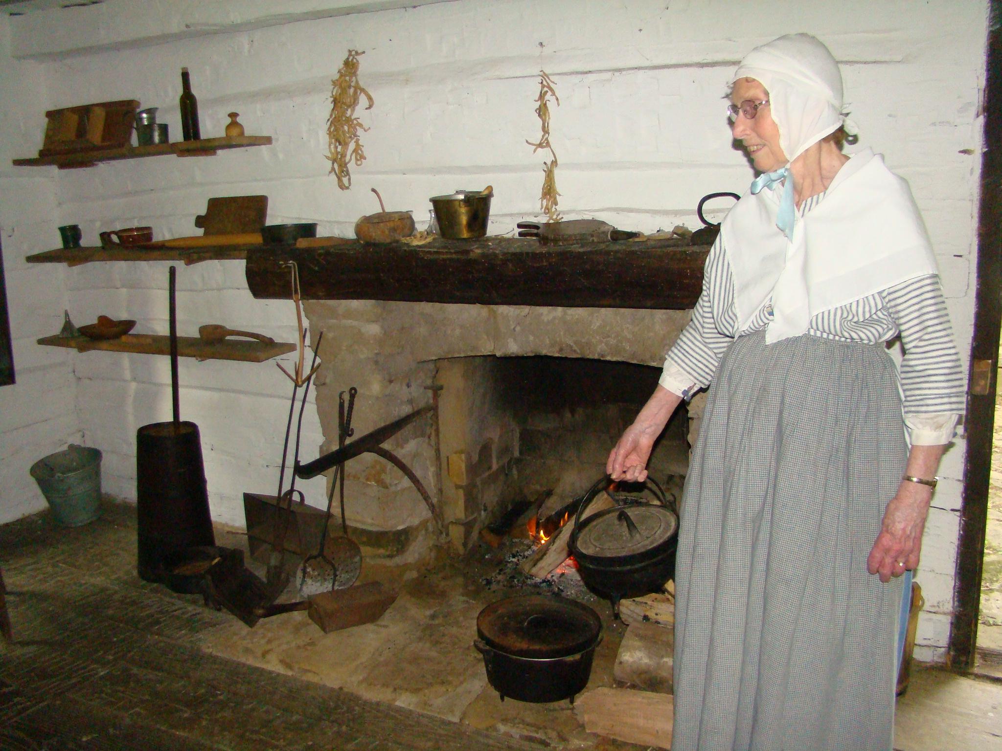 Schoenbrunn cooking fire