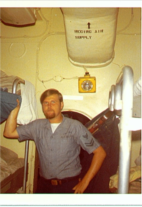 Jim Gibson On board USS Enterprise July 1971