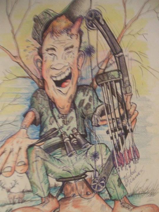 Michael Warren Caricature