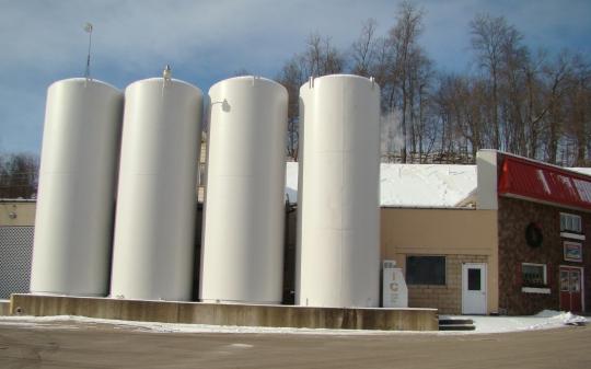 PV milk silos