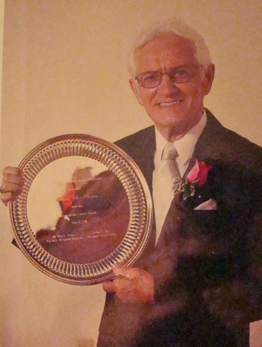 Len Distinguished Service Award at Muskingum