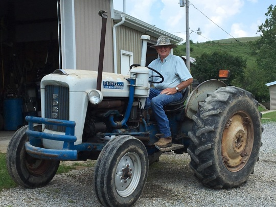 Jerry on first tractor