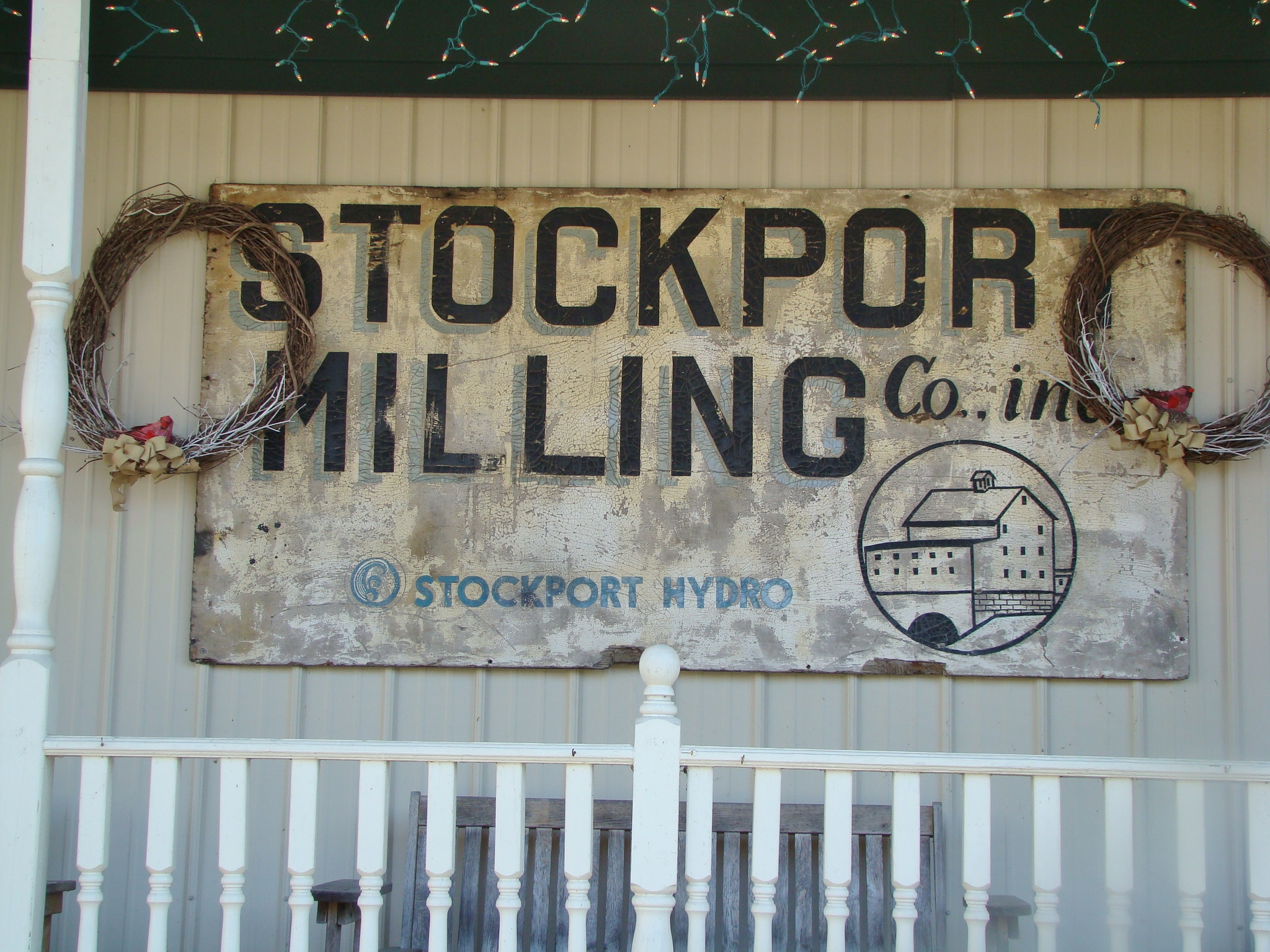 Stockport Mill Sign