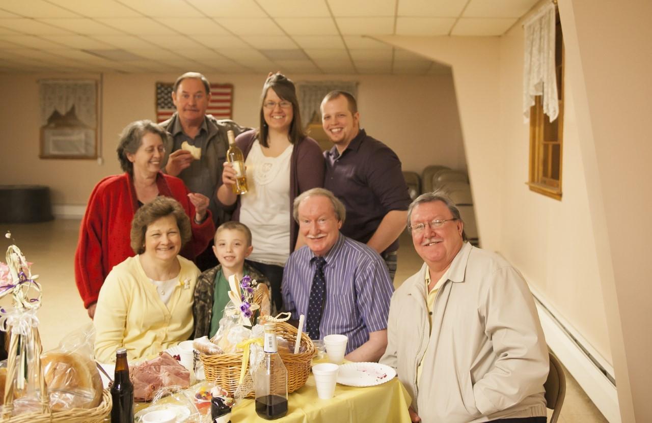 Veselenak family at Easter