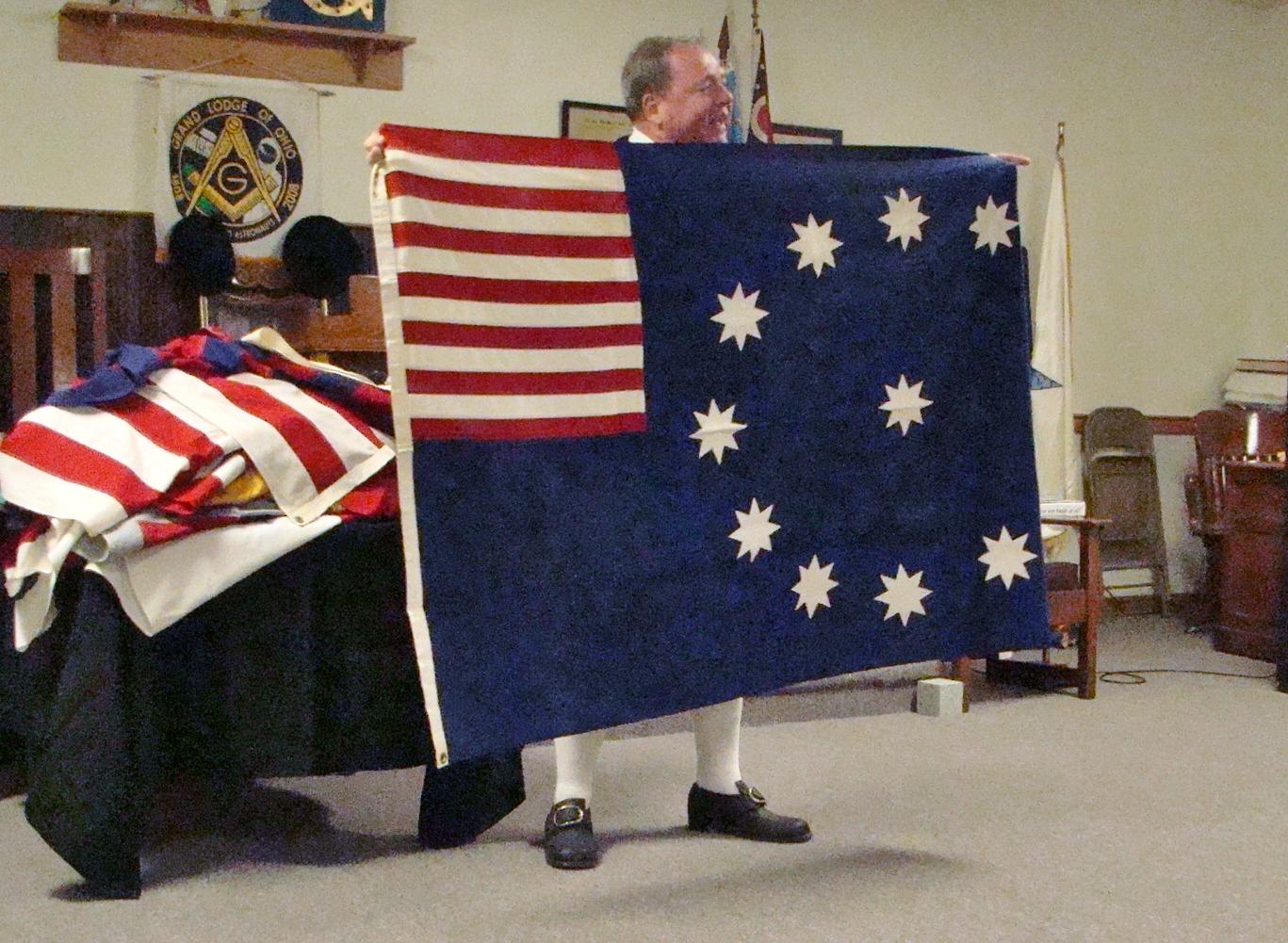 Vane Easton flag -stripes in corner