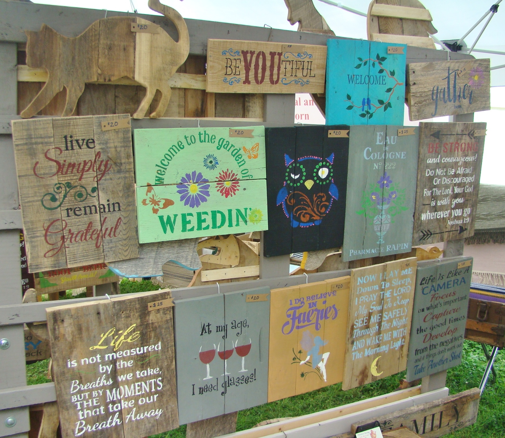Rugs - Sign Display at Festival