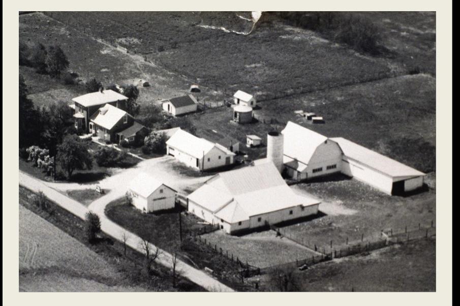 Frantz Farm Aerial view