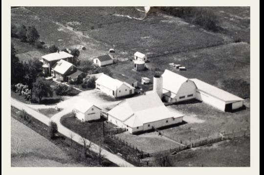 Frantz Farm Aerial view