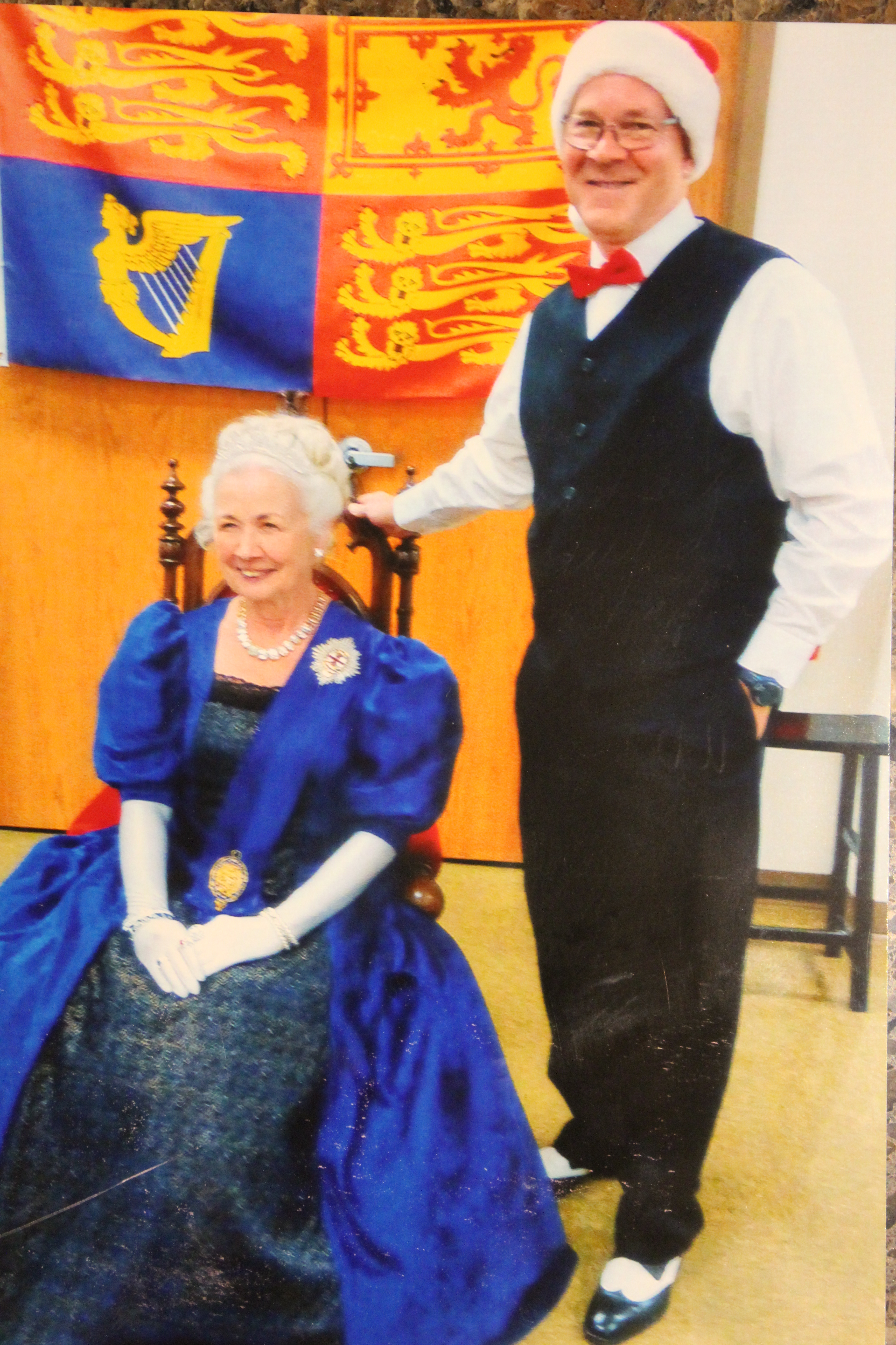 Queen Victoria and her royal bard