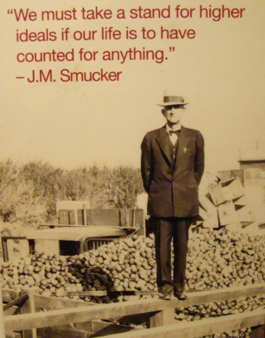 J.M. Smucker on apple bin