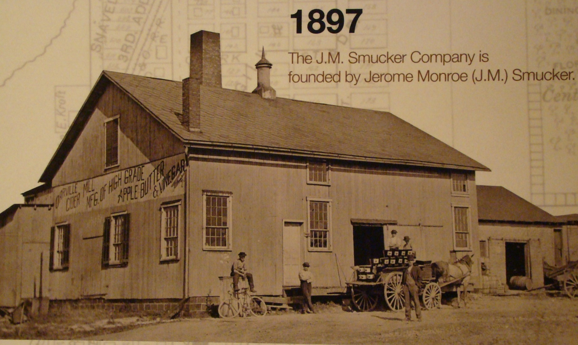 Smucker's horse drawn wagon