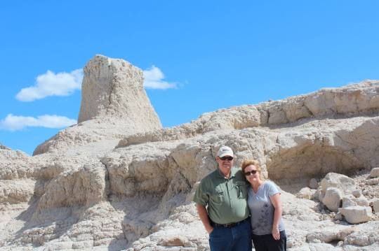 cathy and frank at badlands