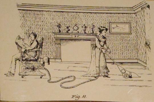 Hoover cartoon Husband rocks to run sweeper