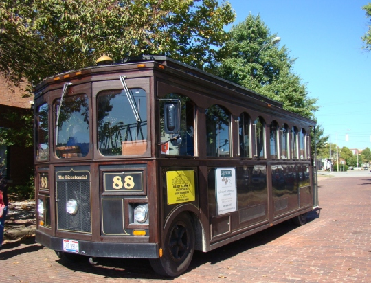 Trolley on Brick Street