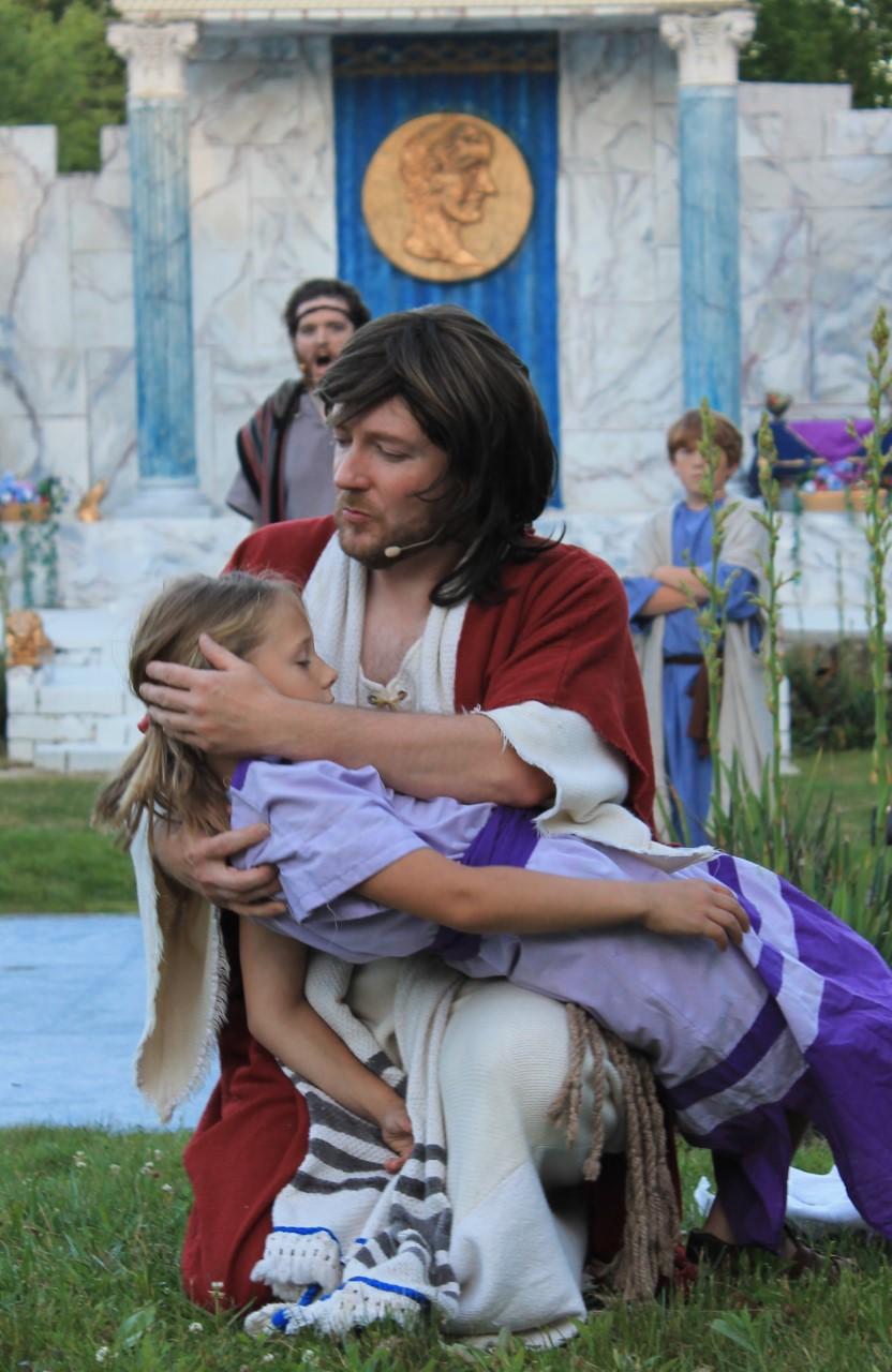 Jesus healing a child