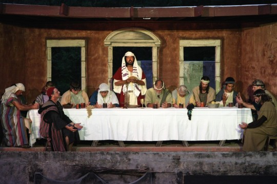 LV Last Supper lighted
