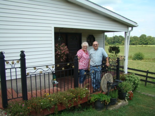 Carl and Sandy welded porch railing