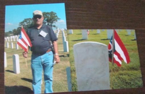 Carl - flag on grave