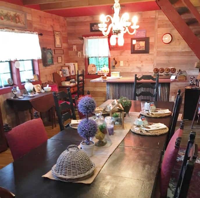 Julia inside cabin 2