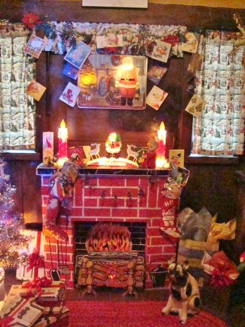 Arms Fireplace with cards