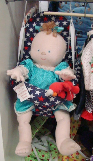 Jane doll in swing