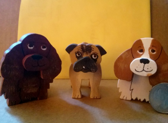 Jane Wooden dogs