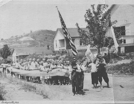 Kids parade on Main St. 19l17
