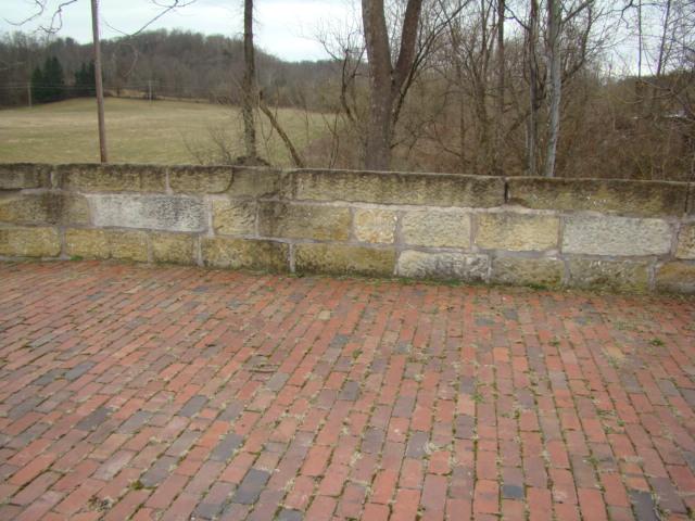 S Brick Road and Stone Walls
