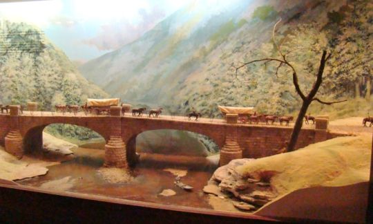 S Bridge diorama in Zane Grey Museum