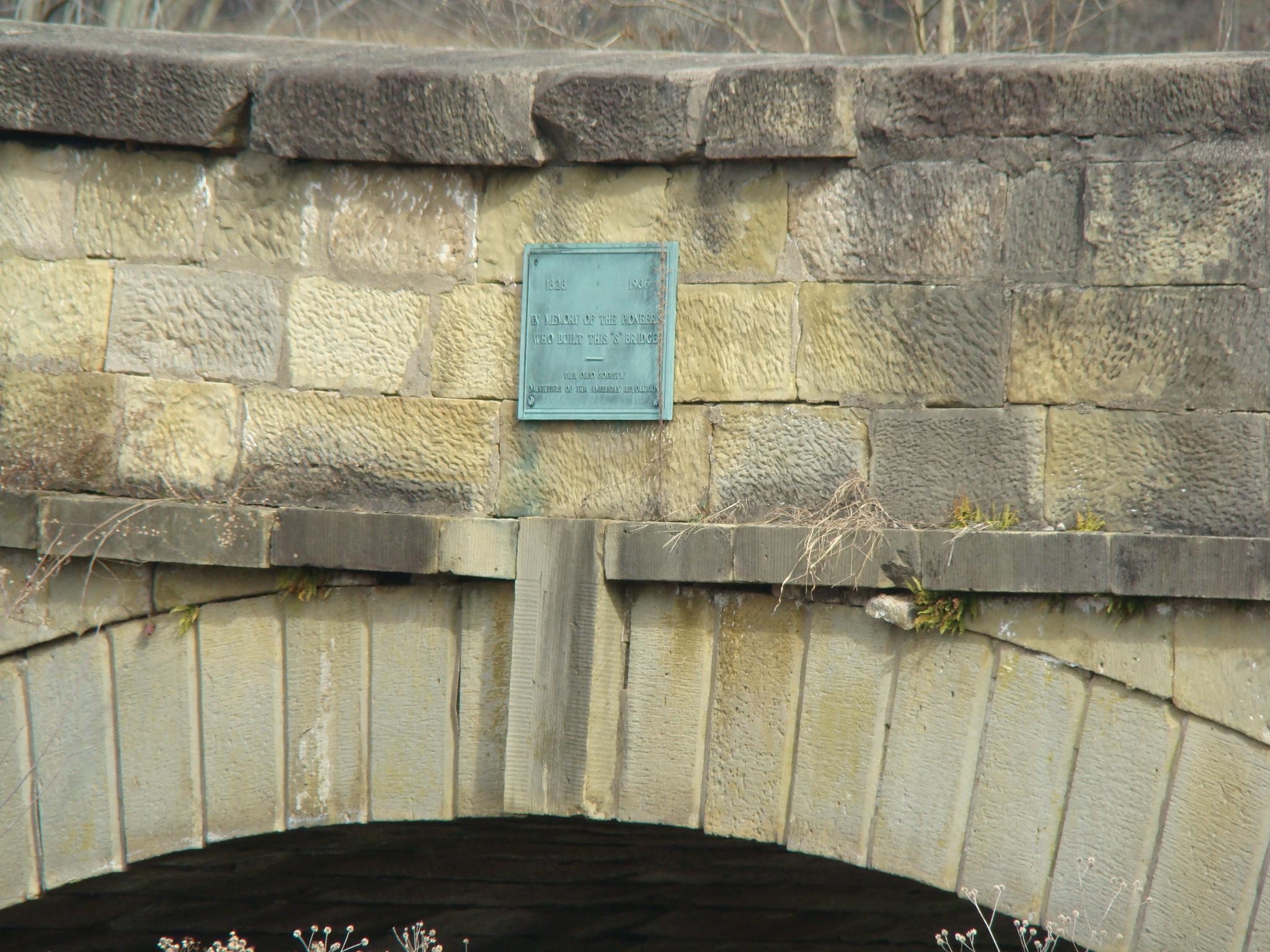 S Bridge sign at Middlebourne