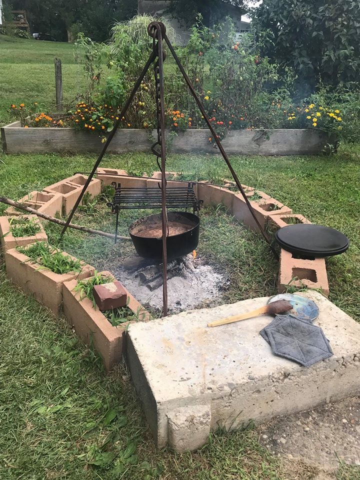 Bell Cooking Outdoors
