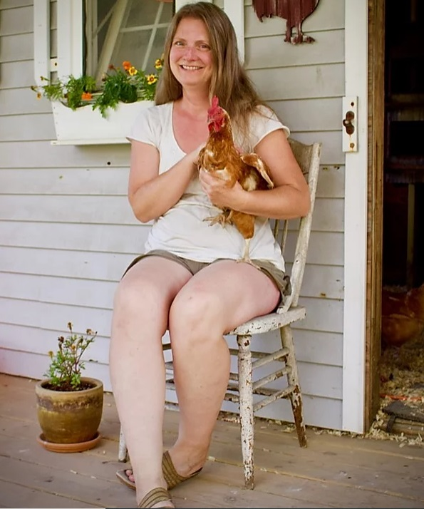 Lisa and chicken