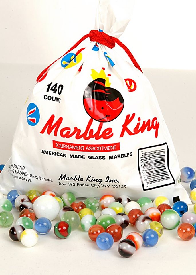 Marlbe King bag of marbles