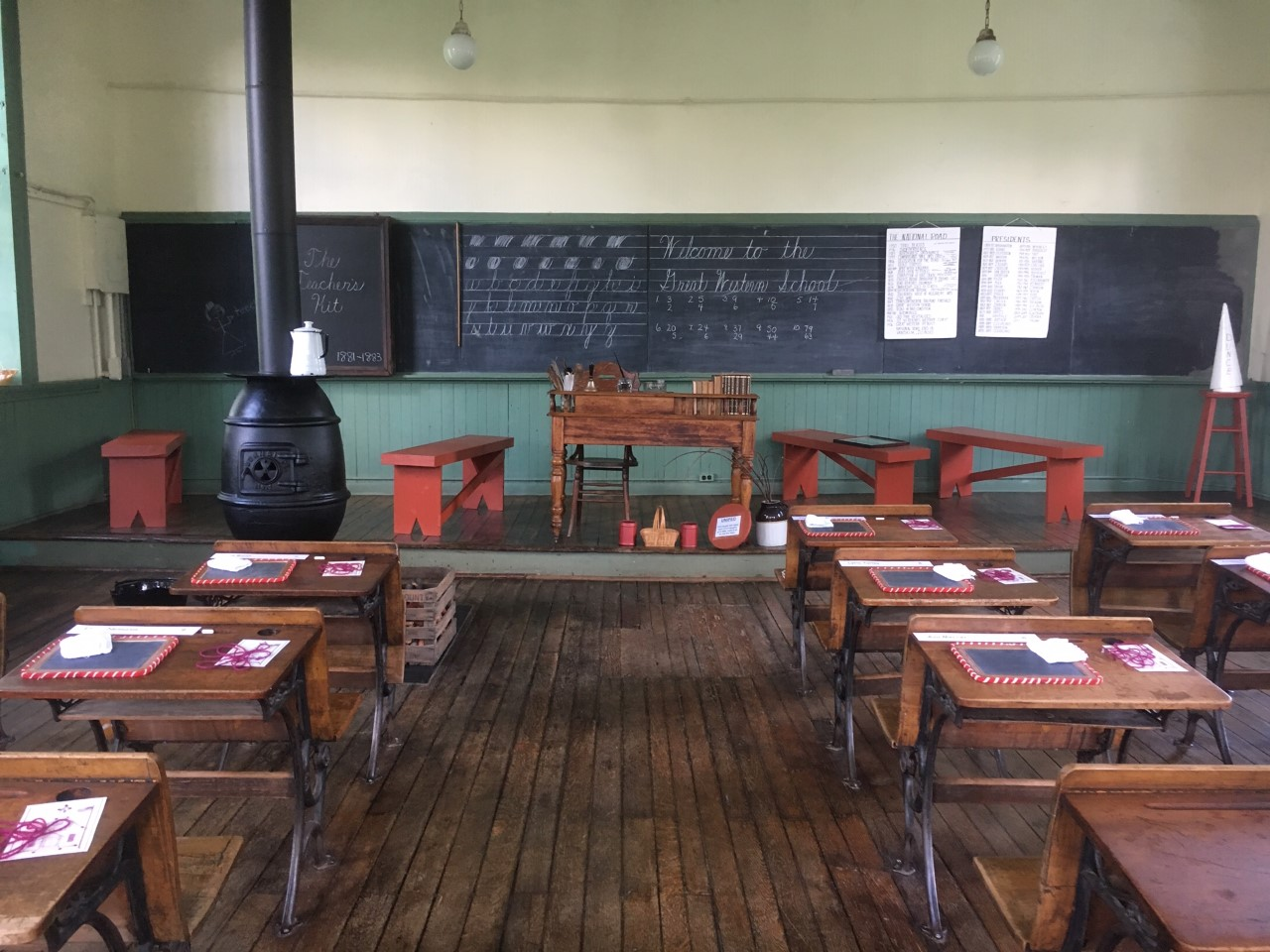 One-Room School Desks